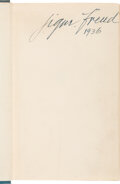 Autographs, Sigmund Freud Signed Copy of Introductory Lectures on Psycho-Analysis....