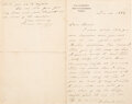 Autographs:U.S. Presidents, Grover Cleveland Autograph Letter Signed while Governor of New York. ...
