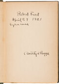 Autographs:Authors, Robert Frost Signed Copy of North of Boston. ...