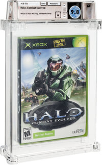 Halo: Combat Evolved (NFR) - Wata 9.8 A Sealed [Microsoft Security Label], Xbox Microsoft 2001 USA