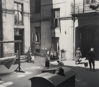 Unknown Artist (20th Century) Afternoon sun in a courtyard, circa 1950 Gelatin silver print, printed later 7-3/4 x 8-