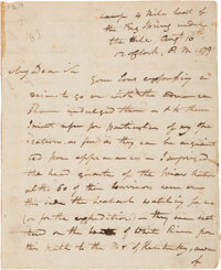 James Wilkinson Autograph Letter Signed Recounting the Battle of Kenapacomaqua