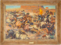 Original Published 1-sheet Poster Art Oil Painting for Fort Apache by Harold von Schmidt (Argosy Pictures, 1948)