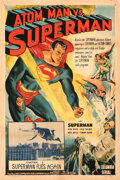 """Movie Posters:Action, Atom Man Vs. Superman (Columbia, 1950). Rolled, Fine+ on Linen. One Sheet (27"""" X 41"""") Chapter 1-""""Superman ..."""
