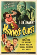 """Movie/TV Memorabilia:Posters, The Mummy's Curse (Universal, 1944). Rolled, Fine+ on Linen. One Sheet (27.25"""" X 41"""")...."""
