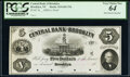 Brooklyn, NY- Central Bank of Brooklyn $5 18__ G8P Proof PCGS Very Choice New 64, 4 POC