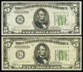 Small Size:Federal Reserve Notes, Fr. 1957-B*; G* $5 1934A Federal Reserve Star Notes. Very Fine or Better.. ... (Total: 2 notes)