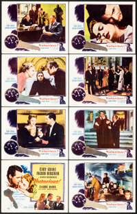 """Notorious (Selznick, R-1954). Very Fine-. Lobby Card Set of 8 (11"""" X 14""""). Hitchcock. ... (Total: 8 Items)"""