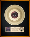Music Memorabilia:Autographs and Signed Items, Prince Presented 1999 RIAA Gold Sales Award....