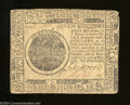 Colonial Notes:Continental Congress Issues, Continental Congress Issue May 10, 1775 $7 Very Fine.A ...