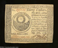 Colonial Notes:Continental Congress Issues, Continental Congress Issue September 26, 1778 $30 Extremely ...