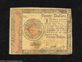 Colonial Notes:Continental Congress Issues, Continental Congress Issue January 14, 1779 $20 Extremely ...