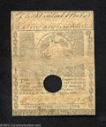 Colonial Notes:Massachusetts, Massachusetts May 5, 1780 $2 Fine, punch cancelled and ...