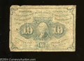 Fractional Currency:First Issue, Fr. 1242 10c First Issue Good. This very heavily ...
