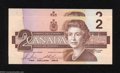 Canadian Currency: , BC-55c $2 1986. Two Examples. Gem Crisp Uncirculated.