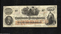 Confederate Notes:1862 Issues, T41 $100 1862. At least four minor gutters are found in ...