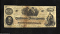 Confederate Notes:1862 Issues, T41 $100 1862. CSA script watermarked paper is found on ...