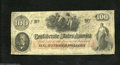 Confederate Notes:1862 Issues, T41 $100 1862. A few pinholes and edge abrasions are found ...