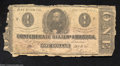 Confederate Notes:1862 Issues, T55 $1 1862. This veteran of the Civil War lost its left-...