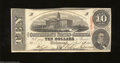 Confederate Notes:1863 Issues, T59 $10 1863. Delightful paper, edges, and color embrace ...