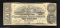 Confederate Notes:1863 Issues, T59 $10 1863. No pinholes and even circulation are traits ...