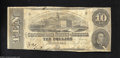 Confederate Notes:1863 Issues, T59 $10 1863. This $10 shows some soiling to go along with ...