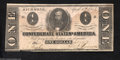 Confederate Notes:1863 Issues, T62 $1 1863. The large water spot that covers the bottom ...