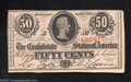 Confederate Notes:1863 Issues, T63 50 Cents 1863. This 1st Series 50¢ has a handful of ...
