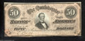 Confederate Notes:1864 Issues, T65 $50 1864. Acute corners and fresh paper are found on ...