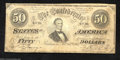 Confederate Notes:1864 Issues, T66 $50 1864. This Jeff Davis $50 has escaped pinholes and ...