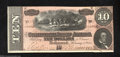 Confederate Notes:1864 Issues, T68 $10 1864. This well preserved redder tint 9 Series is ...