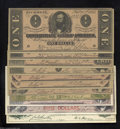Confederate Notes:Group Lots, Eleven Confederate Facsimile Notes, 1954-60s. Seven of the ... (11notes)