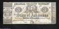 Obsoletes By State:Arkansas, Little Rock, AR- State of Arkansas $3 Oct. 24, 1864