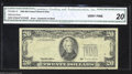 Error Notes:Third Printing on Reverse, Fr. 2081-D $20 1995 Federal Reserve Note. CGA Very Fine 20.