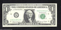 Error Notes:Skewed Reverse Printing, Fr. 1901-K $1 1963-A Federal Reserve Note. Extremely Fine-...