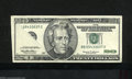 Error Notes:Foldovers, Fr. 2085-B* $20 1999 Federal Reserve Note. Very Fine+, tear.