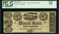 Dubuque, Wisconsin Ter(ritory)- Miners Bank $5 18__ G2 Oakes 57-2/60-2 Remainder PCGS Very Fine 25
