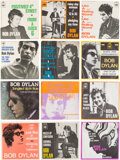 Music Memorabilia:Recordings, Bob Dylan Collection of (12) 7-Inch Singles and EPs from Holland....