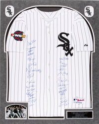 2005 Chicago White Sox - World Series Champs - Team Signed Jersey (28 Signatures)