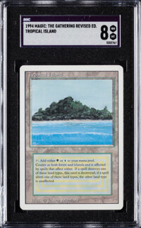 1994 Magic: The Gathering Revised Edition Tropical Island SGC NM-MT 8