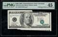 Major Foldover Error Fr. 2175-D $100 1996 Federal Reserve Note. PMG Choice Extremely Fine 45