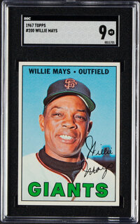 1967 Topps Willie Mays #200 SGC Mint 9