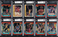 1986 Fleer Basketball Cards & Stickers Complete Set (132+11) - With BGS Mint 9 Jordan