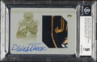 2017 Panini National Treasures Dede Westbrook (Rookie Photo Shoot Material-Yellow Printing Plate) #RMS-DWK BGS Mint 9, A...