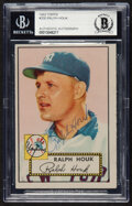 Baseball Cards:Singles (1950-1959), Signed 1952 Topps Ralph Houk #200 Beckett Authentic....