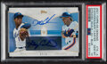 Baseball Cards:Singles (1970-Now), 2021 Topps On Demand Dwight Gooden And Gary Carter (Dynamic Duals Autograph