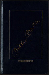 1991 Mickey Mantle Signed My Favorite Summer Book Collector's Decision