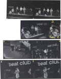 Music Memorabilia:Photos, The Bee Gees Group of (4) Negative Strips from Beat-Club Performance....