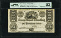 Jersey City, NJ- Morris Canal & Banking Compy. $1,000 18__ Remainder Wait 998 PMG About Uncirculated 53