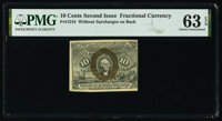 Fr. 1244 10¢ Second Issue PMG Choice Uncirculated 63 EPQ